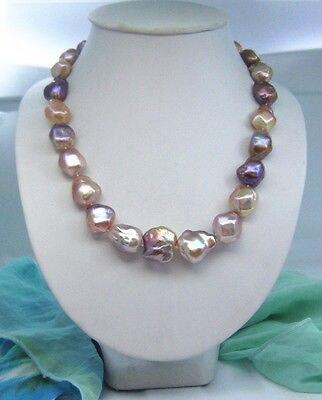 Бесплатная доставка jew3118 барокко многоцветный южного моря жемчужное ожерелье