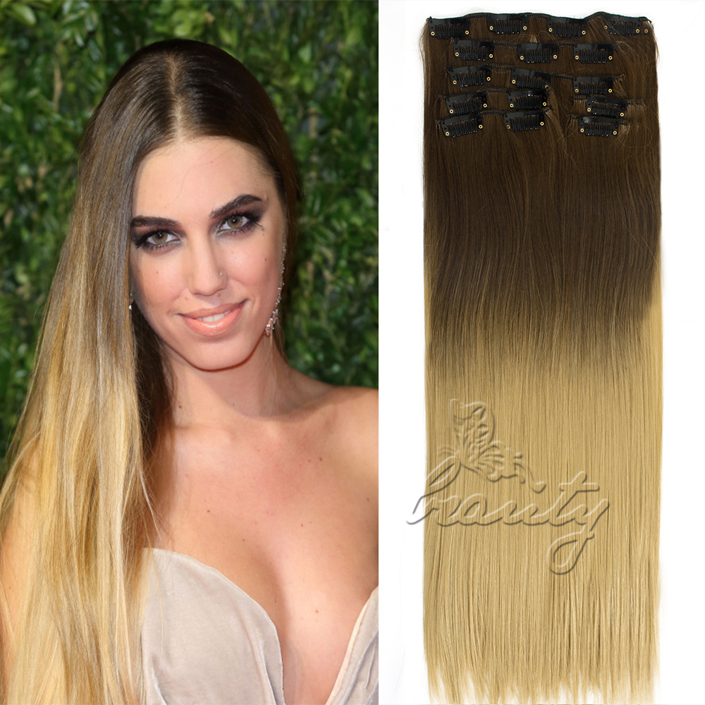 24 inch 7pcs 16 clips dip dye ombre hair extensions long straight 24 inch 7pcs 16 clips dip dye ombre hair extensions long straight full head brazilian virgin straight to be a shine lady 2016 on aliexpress alibaba pmusecretfo Gallery