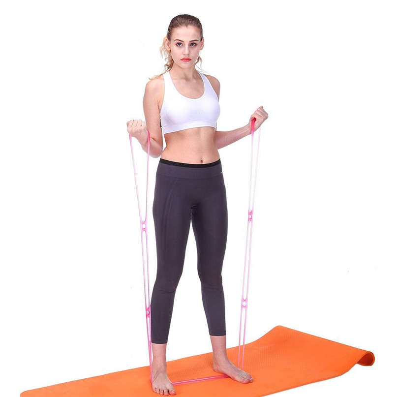 7 Holes Silicone Yoga Resistance Band Fitness Pull Rope Body Training Tools Gym Fitness Equipment #2P09 (2)