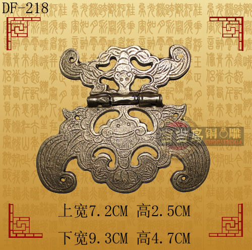 Chinese antique furniture, Ming and Qing bronze copper fittings copper hinge hinge folding free shipping