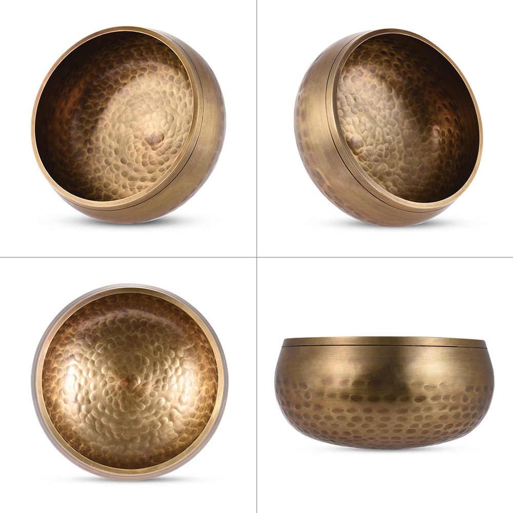 Handmade Tibet Bell Logam Bernyanyi Mangkuk 17.5 Cm/6.9in Kaliber dengan Striker untuk Buddhisme Buddhis Meditasi Doa Yoga Penyembuhan