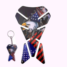 Moto accessory Eagle Fuel Tank Pad Stickers and Key button  Motorcycle side decoration decal