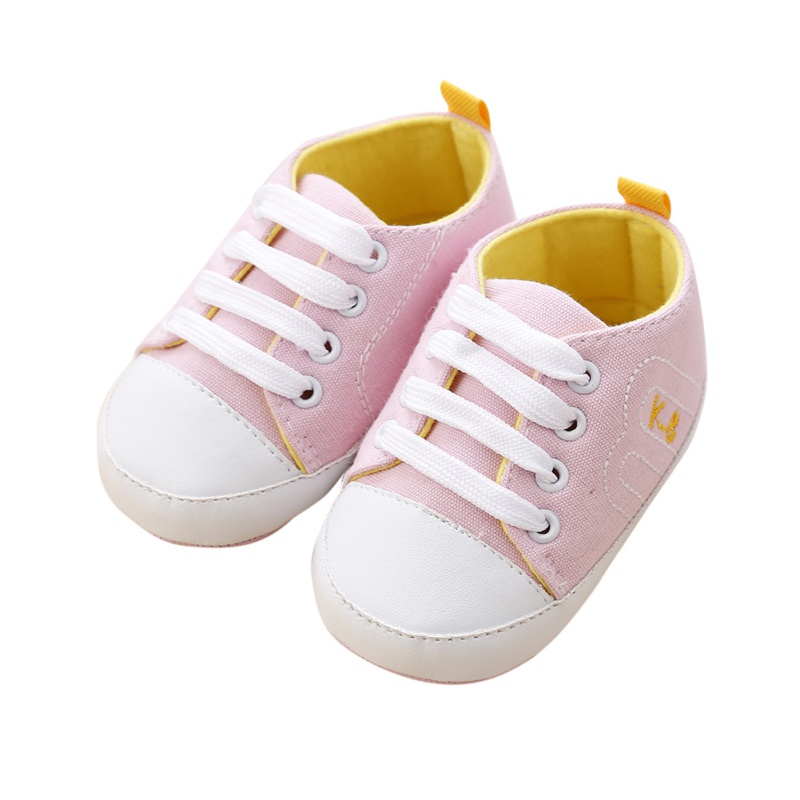 Boys Girls Spring Canvas Solid Color New Infant Toddler Baby Sneakers Soft Sole Crib Non-slip Shoes Hot Sale