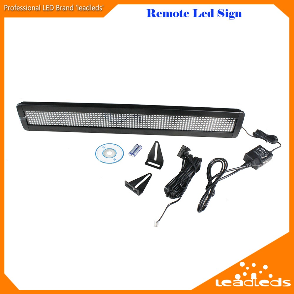 Tri-color LED Sign Wireless Remote Programmable Rolling Information Indoor LED Screen Display bus video led sign p5 flashing led route sign in china
