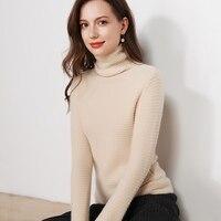 JECH осенние и зимние новые женские pure кашемировый свитер с высоким воротником Модные трикотажные длинные рукава кашемировый пуловер свитер