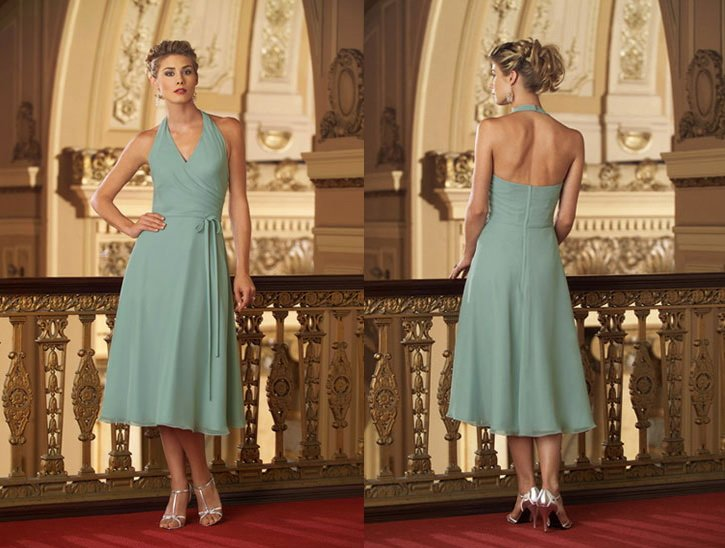 Wholesale Wedding Gowns In Usa: Free Shipping Hot Sale Gorgeous Halter Short Chiffon