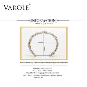 Image 4 - VAROLE Noeud Armband Gold Color Bracelet Manchette Bangles Metal Beads Cuff Bracelets & Bangle For Women Jewelry Pulseiras