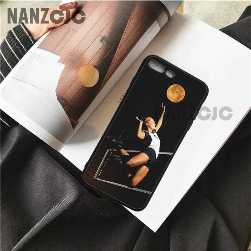 OUTMIX voleibol deportes teléfonos celulares cubierta para iPhone 6 6 s 7 7 8X5 5S iPhone 6 plus 7 7 8 plus XR XS.