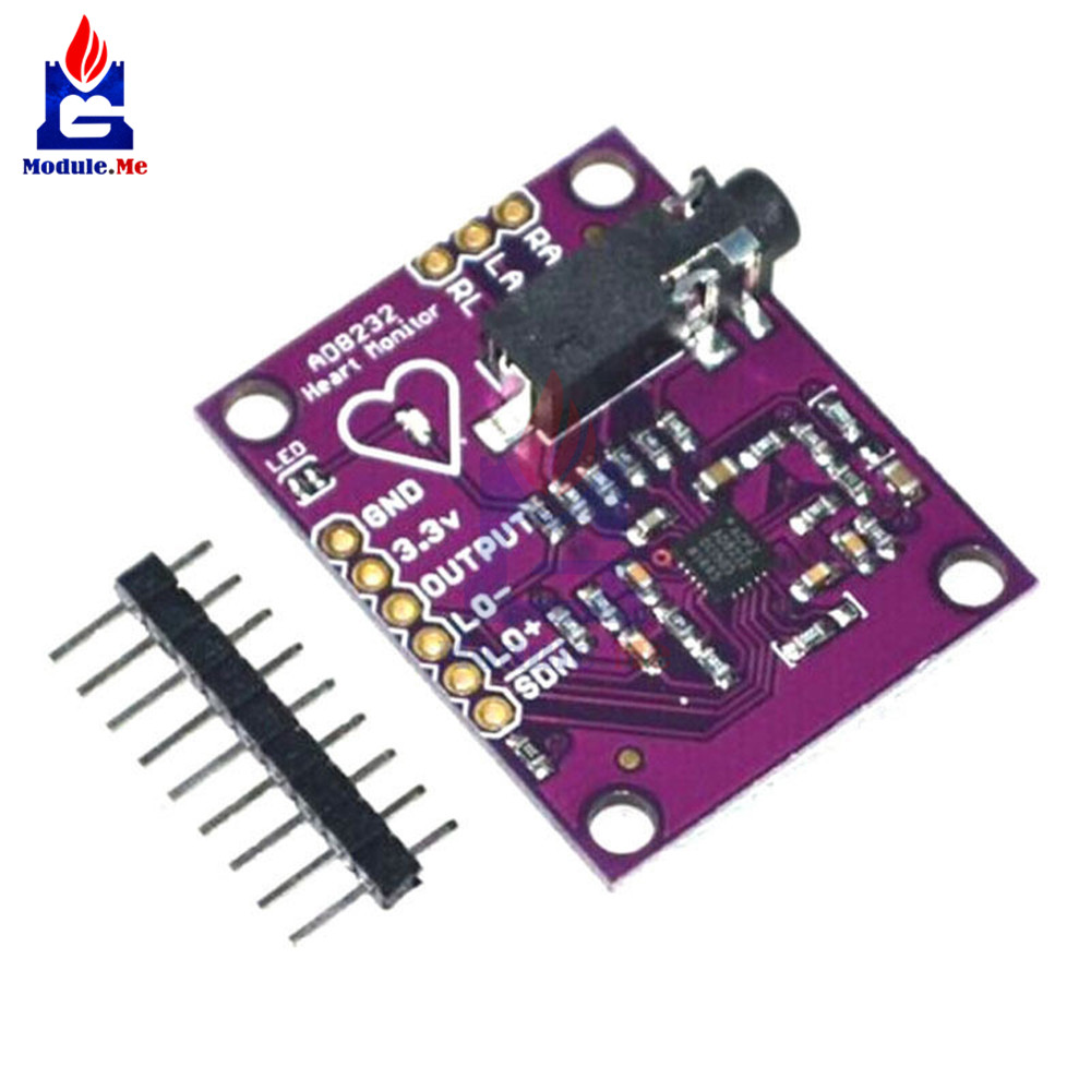 New AD8232 Physiological Measurement Heart Pulse <font><b>ECG</b></font> Bio Monitor Sensor Module Board Electric Unit Modules for <font><b>Arduino</b></font> image