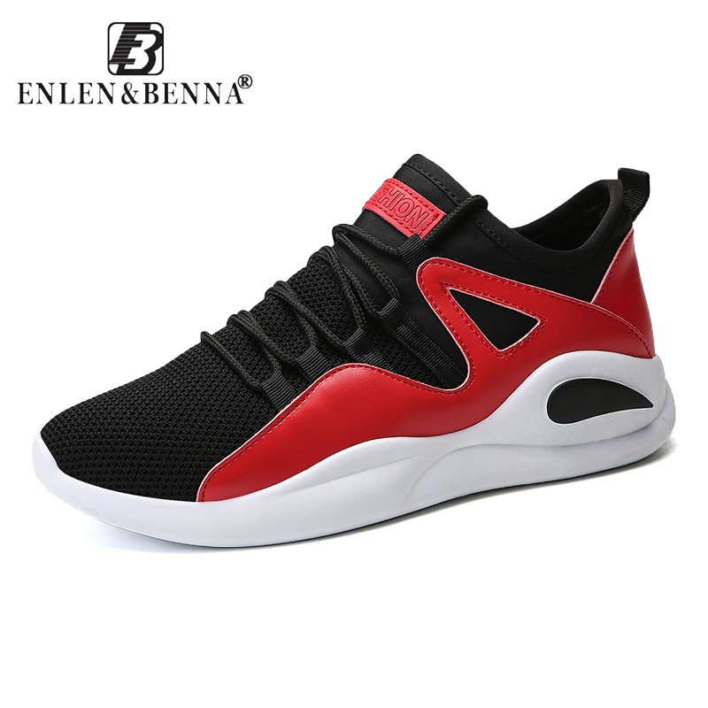 Breathable Summer Men Running Shoes Light Mesh Athletic Sneakers Men Lace-up Sport Shoes ...