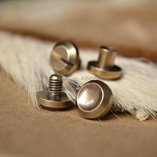 цены free shipping Concave wallet bag Chicago brass belt screw Rivet diy handmade fastener garmnet hardware leather part