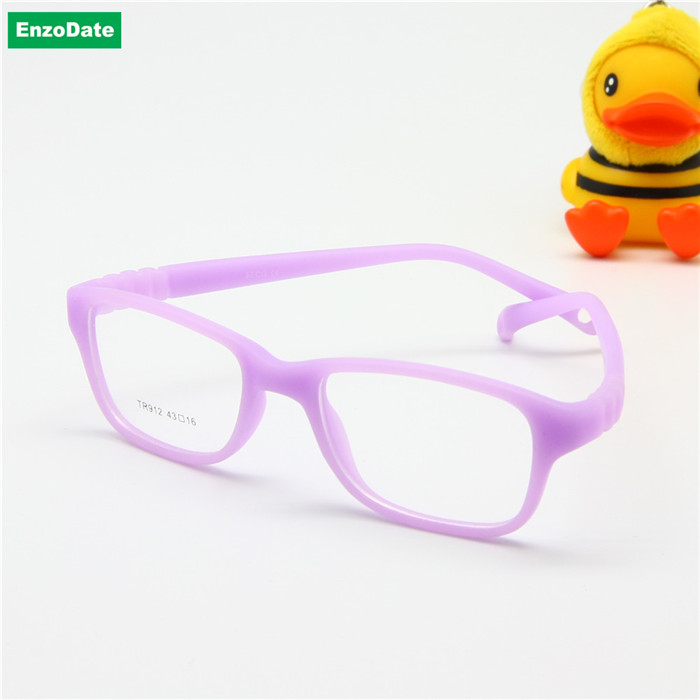 Image 4 - Boy Glasses Frame with Strap Size 43/16 One piece No Screw Safe, Optical Children Glasses, Bendable Girls Flexible Eyeglasses-in Men's Eyewear Frames from Apparel Accessories