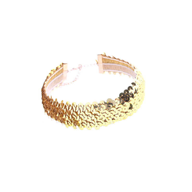 Sequin Golden Statement Bracelet cSLY7