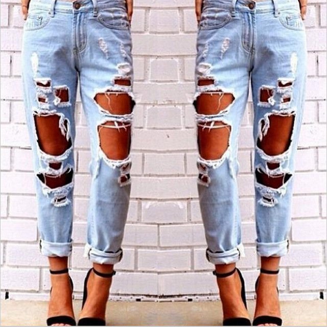 6e7d30e223 Ripped Jeans For Women Hollow Out Loose Jeans Woman Jeans Female Destroyed  Distressed Boyfriend Jeans