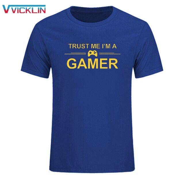 TRUST ME I'M A GAMER FUNNY PRINTED MENS T-SHIRT PS4 XBOX COMPUTER GEEK TEE SUMMER MEN'S PRINT T SHIRT SIZE SIXE XS-XXL