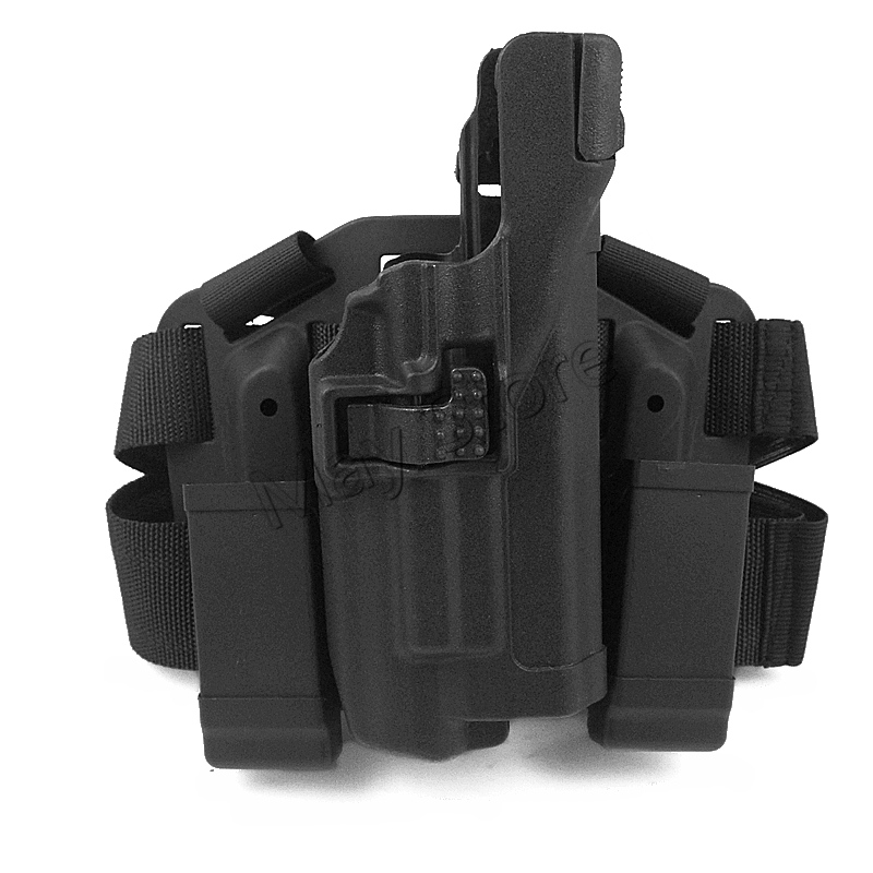 For Glock 17 19 22 23 31 Tactical Airsoft Drop Leg Right Handed Holster Set W Panel Mag Pouch Light Bearing