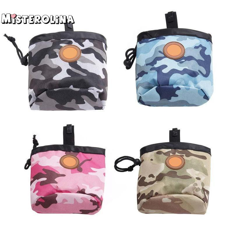 Fashion Camouflage Pet Dog Walking Food Treat Snack Bag Outdoor Bait Training Oxford Pockets Pouch Waist Storage Hold Delicacies Loved By All Home