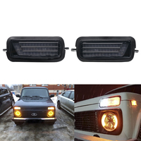 For Lada Niva 4X4 1995 LED DRL lights with running turn signal function accessories car styling tuning