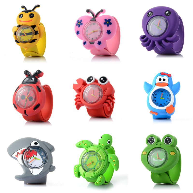 3d Animal Children's Watches Fashion Silicone Strap Quartz Wristwatches Kids Boy Girl Cartoon Watch Baby Clock Montre Enfant