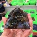 50 мм  натуральный Лабрадорит кварц  кристаллическая пирамида  точечное Исцеление