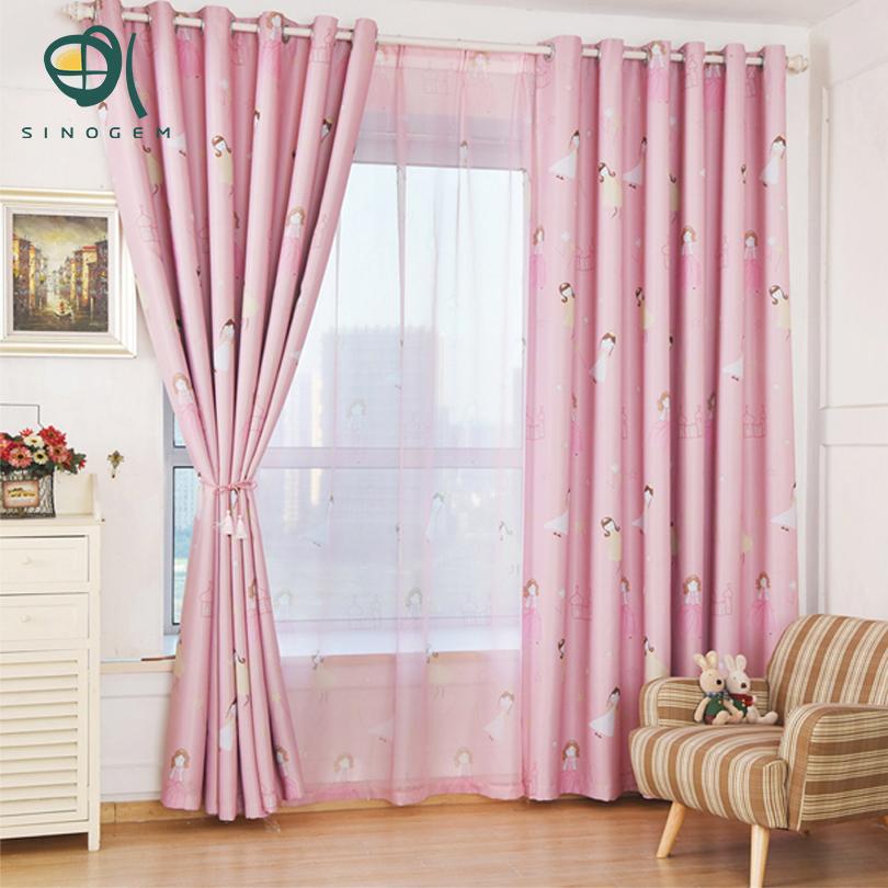 sinogem princesa rosa cortina para viver janelas da sala dos desenhos animados adorveis crianas cortinas cortinas