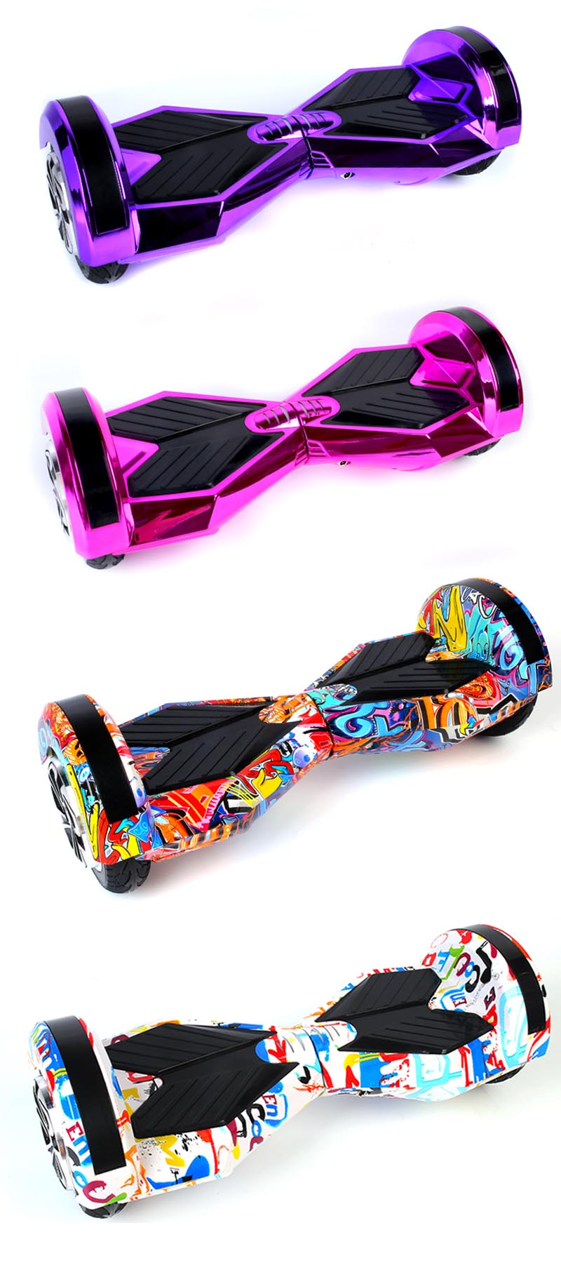 Self balancing Hoverboard or two wheels skateboards with Bluetooth and LED light for Adults 6