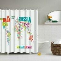25 Pattern Printed Fabric Waterproof Bathroom Shower Curtain Set With 12 Hook 180 180 Cm Home