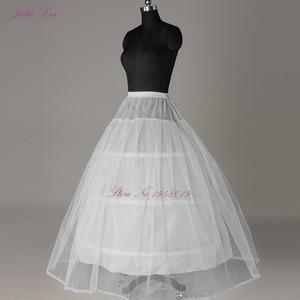 Image 2 - Julia Kui 3& 6 Hoops Crinoline  A Line Wedding Petticoat Picture White Color