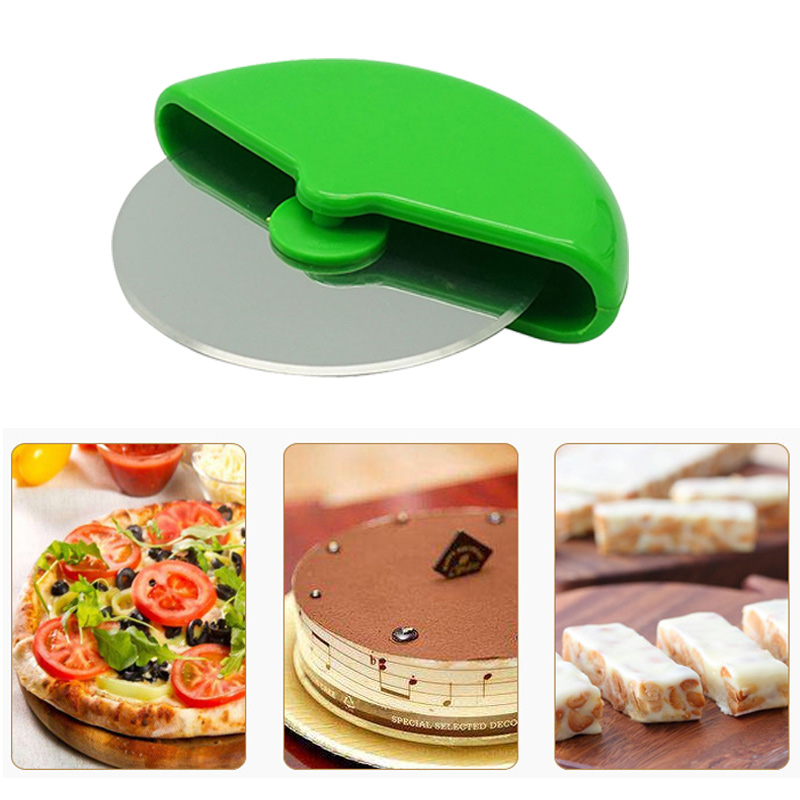 1PC Stainless Steel Pizza Wheels Round Shape Pizza Cutter Plastic Handle Cake Bread Round Knife Cutter Pizza Tool Radom Color нож для пиццы