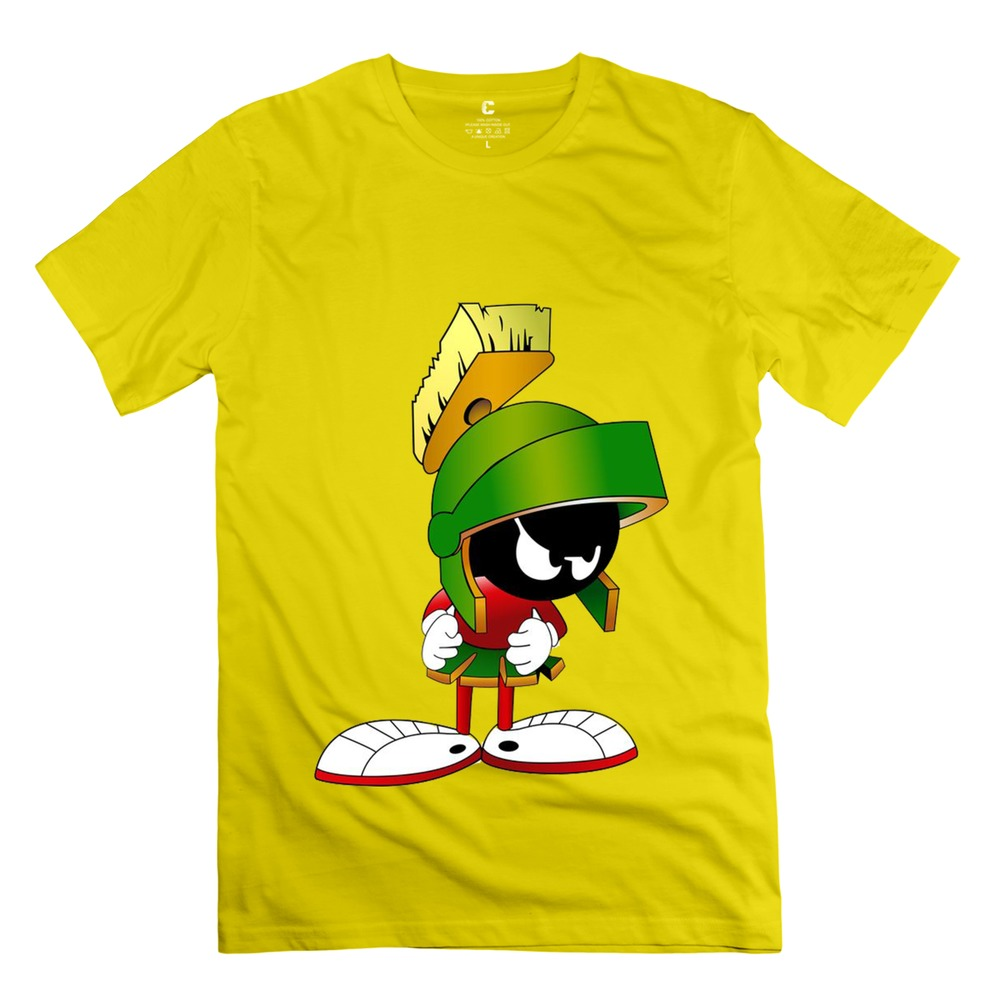 Brand marvin the martian 9 t shirt music o collar male for Which t shirt brand is the best
