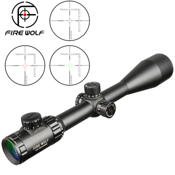 FIRE WOLF 10-40X56AOE Hunting Scopes Side Wheel Parallax Adjustment Optics Sight Red And Green Dot Riflescope For Military Scope