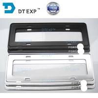 1 PAIR CUSTOMIZE FOR ALL Brands Cars 44 14cm License Plate Frame Tag Cover Holder FOR
