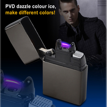 1pc Novelty USB Electronic Rechargeable Battery Cigar Cigarette Electronic Lighter No Gas smokeless