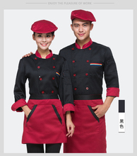 Chef 5 Color Uniforms Unique Hotel Restaurant Kitchen Cook Jackets For Men and Women Wholesales Le Chef Clothing Free Shipping