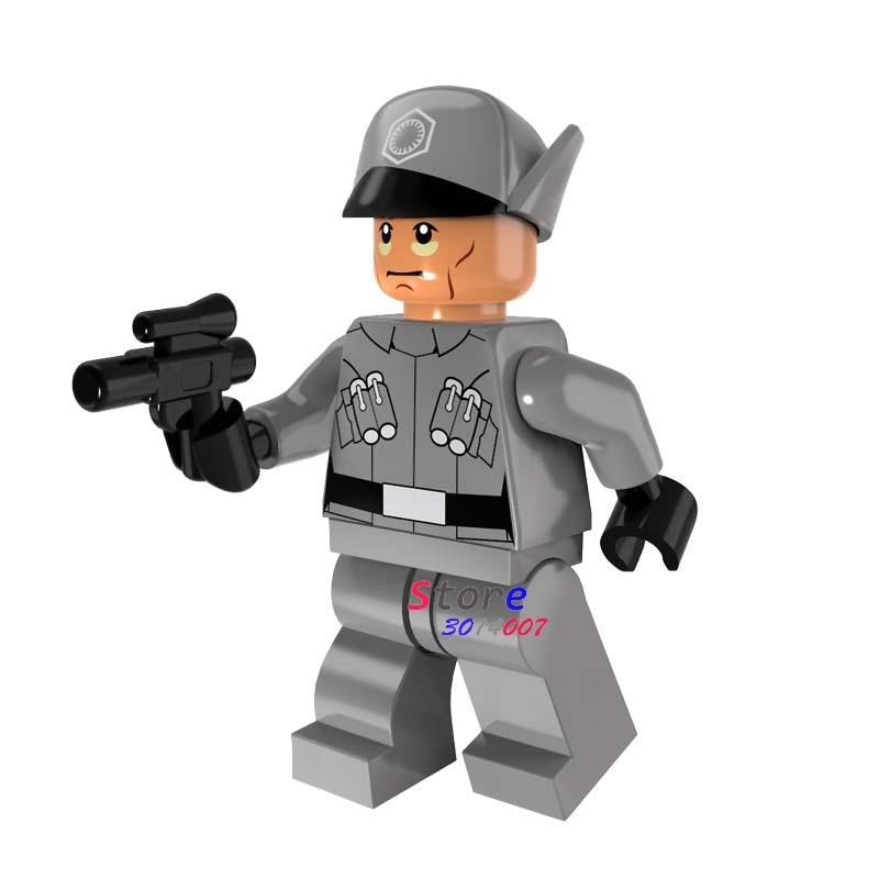 50pcs model star wars First Order Officer Lieutenant Mitaka building block bricks for kits kid girls house games children toy