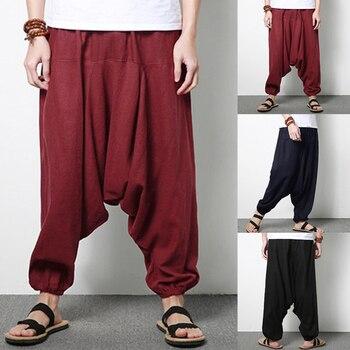 INCERUN hombres flojos ocasionales pantalones Harem Hip-Hop danza pantalones  de Hip Hop calle desgaste d9495a88bce