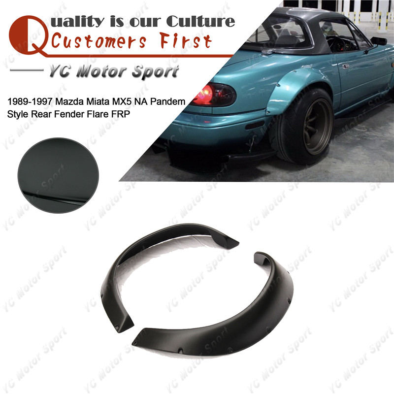 Car Accessories FRP Fiber Glass NA PD Style Rear Fender 2pcs Fit For 1989 1997 Miata MX5 Rear Over Fender Flares|fender flares|fender fender flaresflares fender - title=