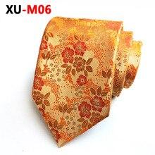 Белый золотой цветочный галстук, благородный цветочный галстук, мужской галстук