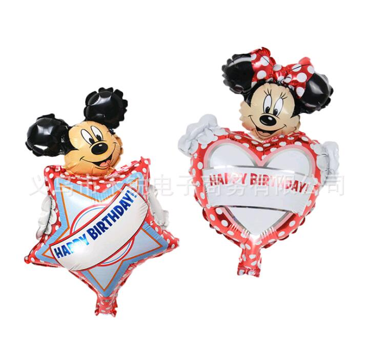 1pcs  New Mini Minnie Mickey  Aluminum Balloons Children Toy Party Birthday Decorative Balloon