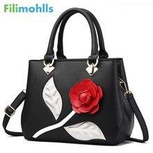 Luxury Handbags Women Bags Designer 2019 Fashion Floral PU Tote Crossbody