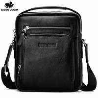 Bison Denim 100 Genuine Leather Men S Briefcase Messenger Vertical Bag Document Holder Large Capacity N2333