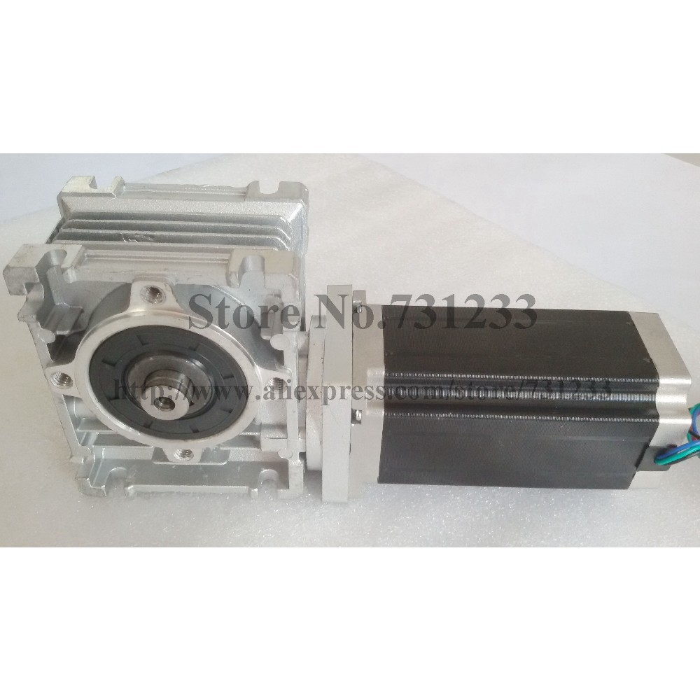 NEMA 34 Worm Reducer Stepper Motor RV050 7.5:1~80:1 Motor Length 98mm 6.5 N.m (903oz-in)Nema 34 Worm Gear Stepper Motor CE ROHS 4axis nema 34 1230oz in 5 0a stepper motor