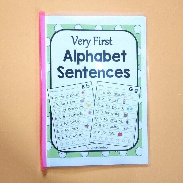 Learning ABC Alphabet Sentences English Workbook Educational ...