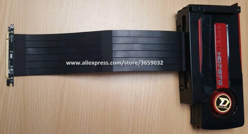 Купить с кэшбэком Gen3 PCIE x16 To x16 Riser pci e PCI-e 16x flexible Cable For PHANTEK ENTHOO Evolv Shift PH-ES217E/XE PK-217E/XE ITX Motherboard