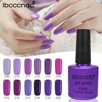 IBCCCNDC 10ML 12pcs/lot Purple Series UV Gel Nail Varnish Nail Gel Polish Gel Lak LED UV Nail Art with Gift Box Manicure