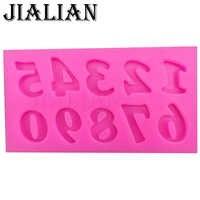 3D número 0-9 digital del molde de silicona para fiestas de chocolate herramientas de decoración de pasteles DIY para hornear fondant molde de silicona t0179