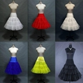 White Colored Short Petticoat Girl crinoline jupon Tulle underskirt Hoop Skirt Under Skirt