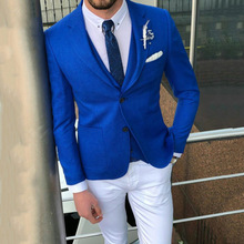 Latest Coat Pant Designs Royal Blue Men Suits for Wedding Casual Man Business Groom Tuxedos Slim Fit Terno Masculino 3Pieces
