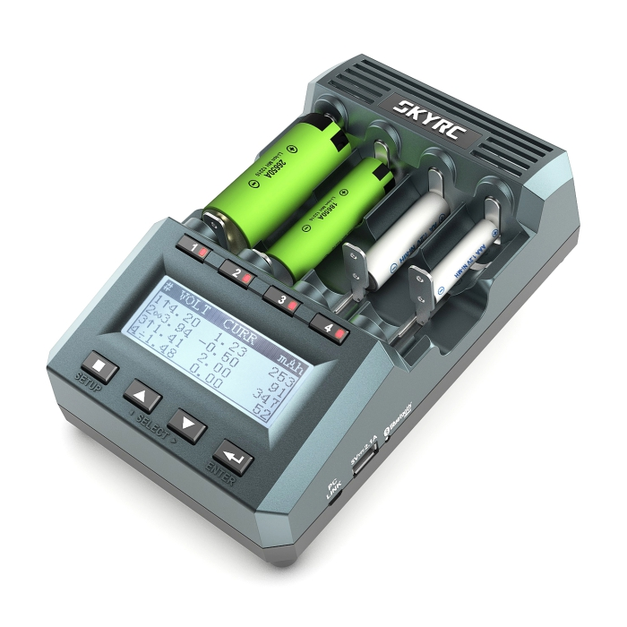 SkyRC MC3000 bluetooth charging cylindrical battery charger for Ni - MH Nickel - Nickel - Zinc Battery Charging bluetooth battery 041025