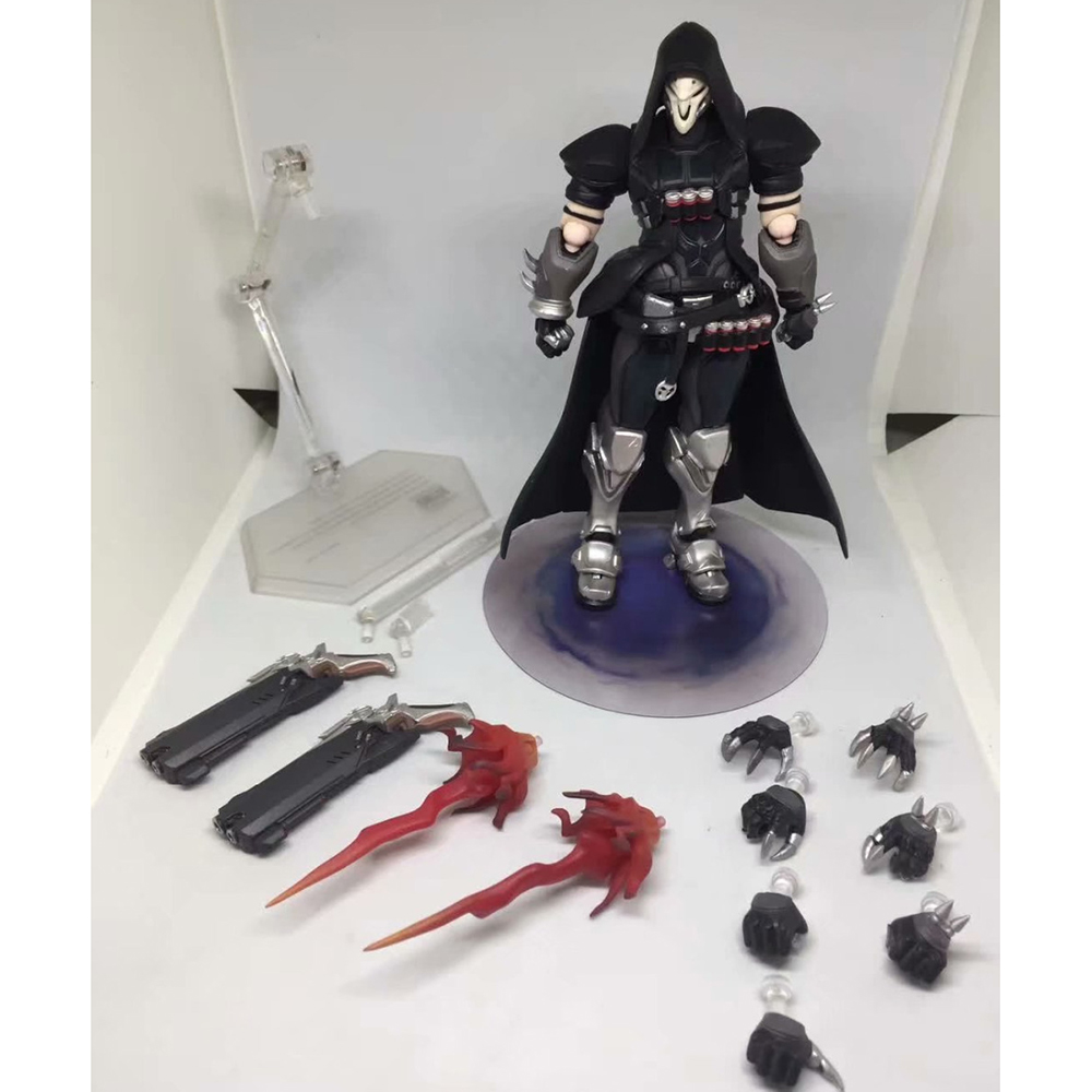 17cm ow Figma 393 Overwatches Reaper Series PVC Action Figure Model Toys Doll Gift 2